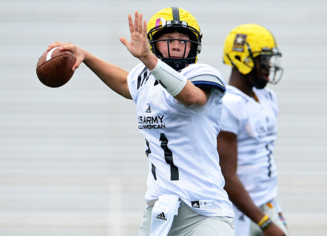 The LSU pledge tossed 40 touchdown passes in 10 games for Cathedral High in Los Angeles in 2012. He drew rave reviews at the U.S. Army All-American Bowl in San Antonio.