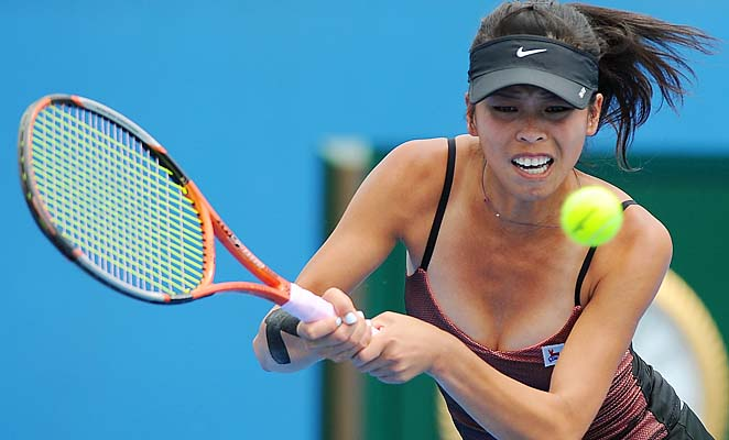 Hsieh Su-wei lost in the second round of the Australian Open to Svetlana Kuznetsova.