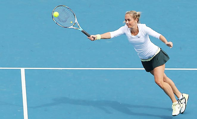 Klara Zakopalova lost in the second round of the Australian Open to Kirsten Flipkens.
