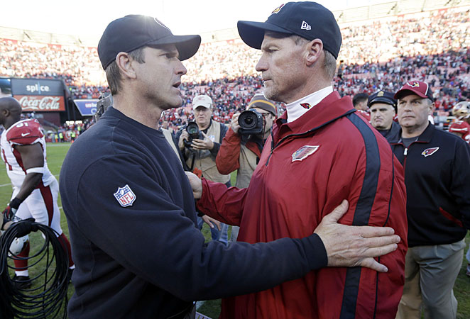 Ken Whisenhunt saw what makes Jim Harbaugh's Niners team tick in a pair of losses this season.