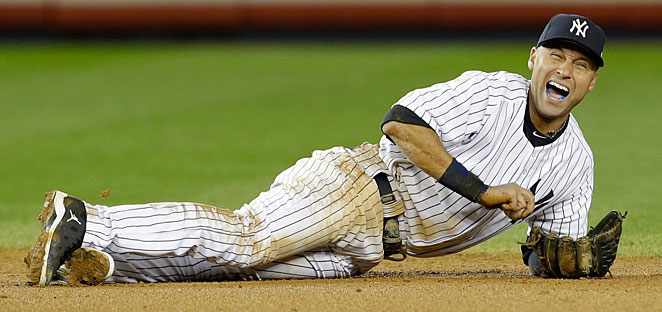 Derek Jeter broke his ankle during Game 1 of last year's ALCS against the Tigers.
