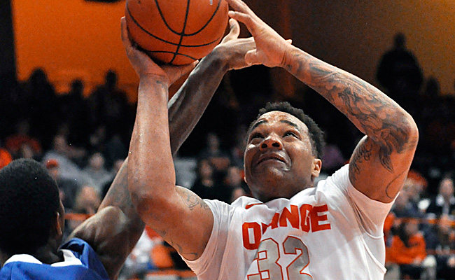 Dajuan Coleman has started all 20 of Syracuse's games, averaging 5.0 points and 4.3 rebounds.