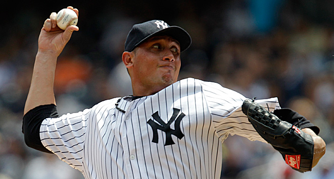 Freddy Garcia was 7-6 with a 5.20 ERA for the Yankees last year.