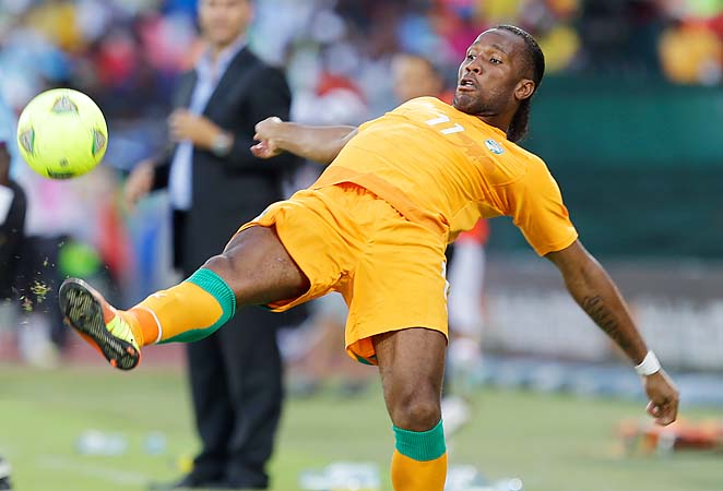 Didier Drogba and Ivory Coast are through to the quarterfinals of the Africa Cup of Nations.