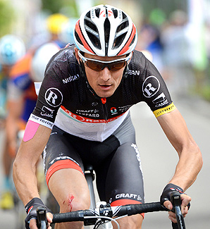 RadioShack Nissan Trek cyclist Frank Schleck tested positive for a banned diuretic at the 2012 Tour de France.