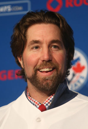 R.A. Dickey, who won the Cy Young award for the Mets in 2012, was traded to the Blue Jays this offseason.
