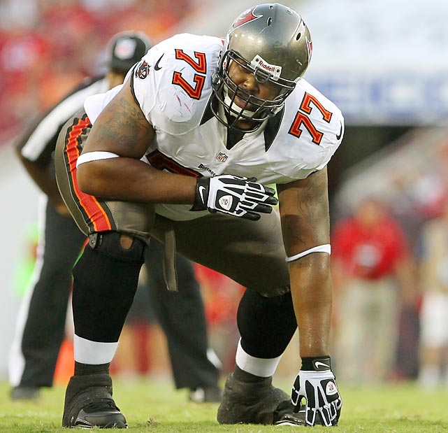 There's some variation among the different positions of the offensive line, with offensive tackles typically leading the group. Guards drive most of the Tampa Bay Buccaneers' spending with $9.5 million to Carl Nicks and $7.5 million to Davin Joseph. Despite neither guard playing the full year -- Joseph spent the entire season on the IR --Tampa Bay allowed the third-fewest sacks.