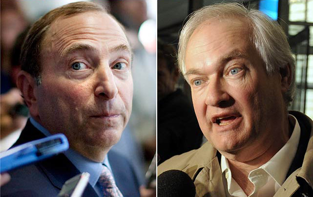 "Despite record revenues ($3.3 billion) and TV ratings, the NHL put the breaks on its own momentum for the third time in two decades. Bettman and the owners found themselves up against a wily new adversary: ex-MLBPA boss Donald Fehr, whom the players enlisted for the clash over shares of hockey related revenue, the salary cap, and contract terms. The impasse dragged on for 116 days, with the season again shortened to 48 games. Bettman estimated during the stoppage that ""the business is probably losing between $18 and $20 million a day and the players are losing between $8 and $10 million a day."" The loss to the NHL's luster, especially with the cancellation of the biggest edition yet of the Winter Classic, was harder to measure, but despite threats of boycott, fans returned in droves for the first puck drop. <italics>-- Brian Cazeneuve</italics>"
