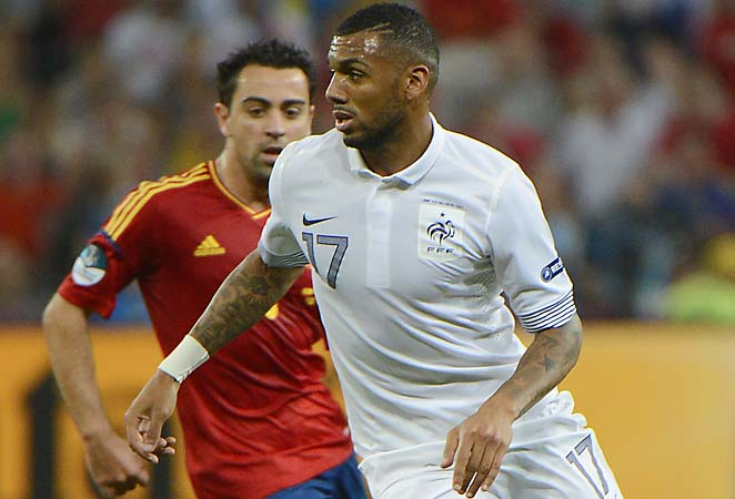 Yann M'Vila and France were eliminated in the quarterfinals of Euro 2012.
