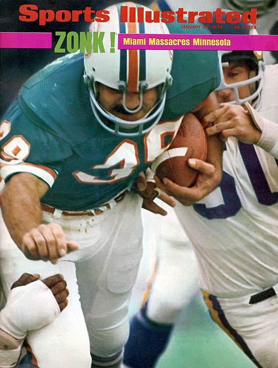By the time Minnesota scored?in the fourth quarter?Csonka already had two touchdowns, having opened the scoring on his way to 33 carries for 145 yards.