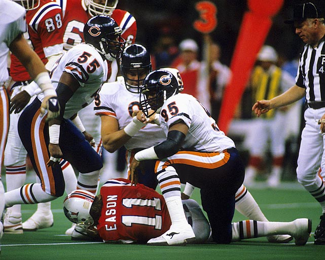 Two sacks and two forced fumbles helped Dent join the exclusive ranks of defensive Super Bowl MVPs. He led a Chicago D that held New England to a record low seven yards rushing and kept them from recording a first down until the second quarter.