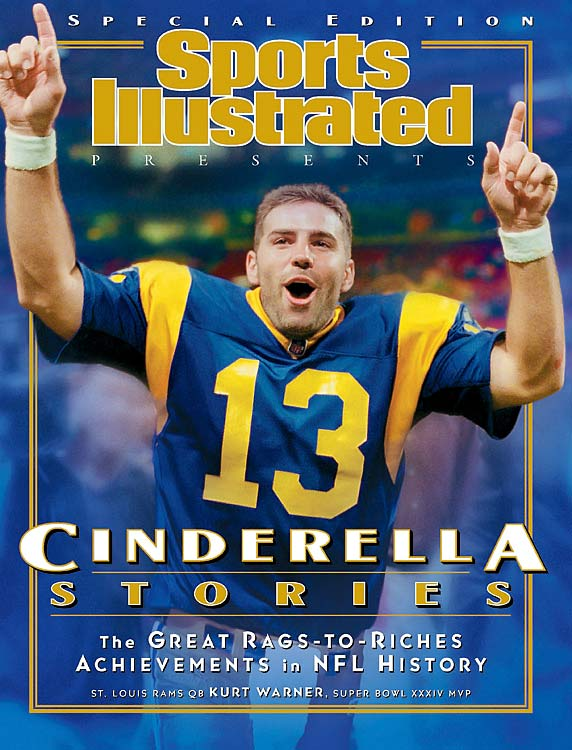 Warner completed 24 of 45 passes for a Super Bowl record 414 yards for two touchdowns and no interceptions in the Rams' narrow 23-16 win over Tennessee.