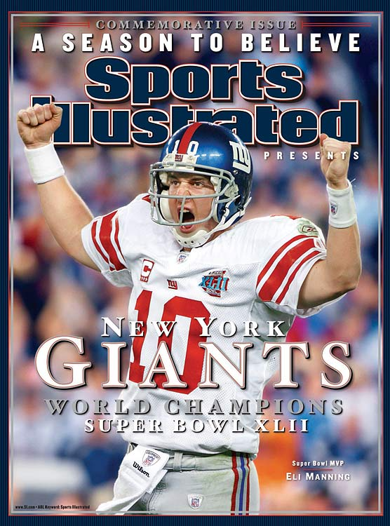 Little brother Manning might as well have done a rendition of 'Anything You Can Do, I Can Do Better.' Eli brought home a Super Bowl ring and MVP trophy to match his brother's, racking up 255 passing yards and two touchdowns, including a dramatic 83-yard final drive to upset the Pats.