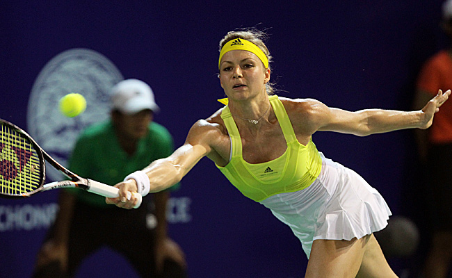 Maria Kirilenko defeated fourth-seeded Sorana Cirstea of Romania 6-0, 6-2 in only 67 minutes.