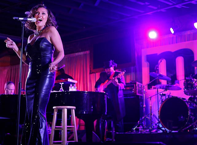 "Guests enjoy a rare, live performance from multi-award winning performer Vanessa Williams at the ""Better With M"" Kick-Off Event."