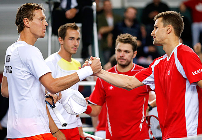 The Czechs eventually won their 13th chance at match point to take the win for their country.