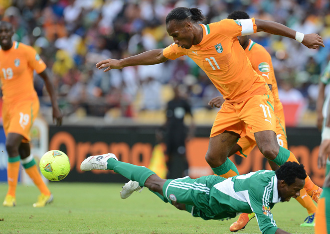 Didier Drogba and the Ivory Coast were surprisingly knocked out in Sunday's quarterfinal.