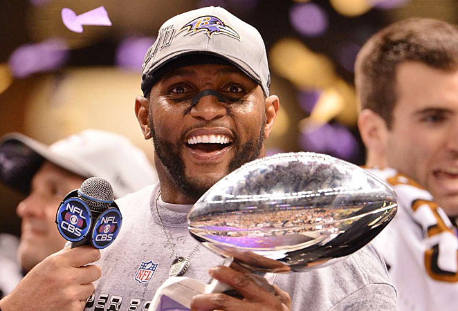 Ray Lewis was no Super Bowl MVP like before, but he still helped carry Baltimore to the trophy.