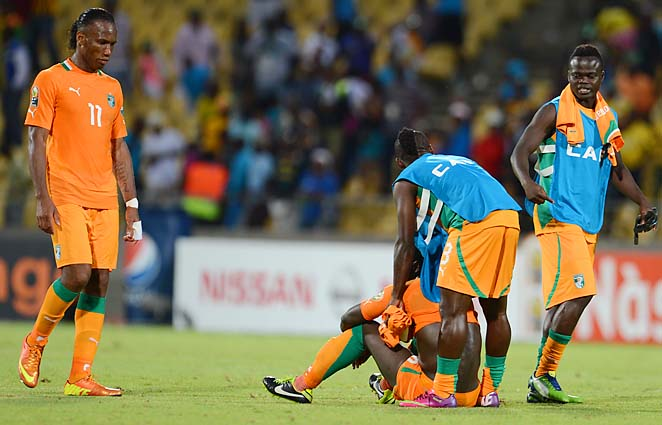 Didier Drogba (left) and Ivory Coast must now look forward to the next Cup of Nations in 2015.