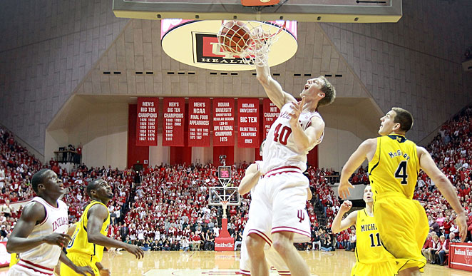 Cody Zeller helped the Hoosiers knock off then-No. 1 Michigan on Saturday night.