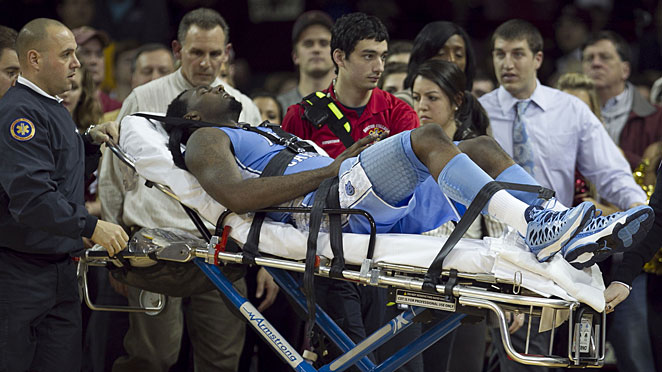 P.J. Hairston left last week's North Carolina game at Boston College on a stretcher after suffering a concussion.