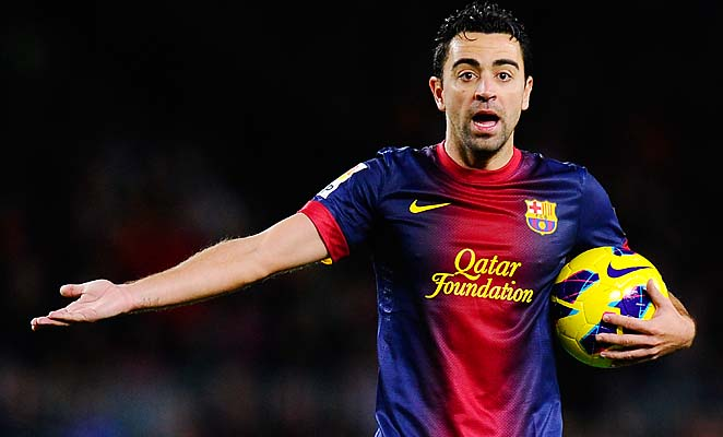 Xavi could miss Barcelona's return leg Champions League match with AC Milan.