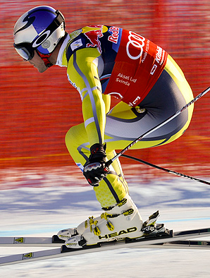 Norway's Aksel Lund Svindal won the super-G discipline title in 2013.