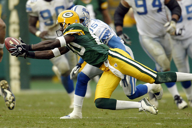 Drafted out of Alcorn State in the seventh round in 1999, Driver became one of the most popular and prolific Packers. He had six straight 1,000-yard seasons from 2004-09, averaging 14 yards per catch during the stretch. He made at least one catch in 133 straight games from 2002 to 2010, another franchise record. He finished his 14-year career as Green Bay's all-time leader in yards receiving (10,137 yards), catches (743) and 1,000-yard seasons (seven), and was third behind Don Hutson and Sterling Sharpe with 61 touchdown receptions. A four-time Pro Bowl pick, he was Green Bay's MVP in 2002 and was part of the team that won the Super Bowl following the 2010 season.