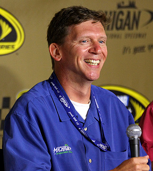Michigan International Speedway president Roger Curtis hopes that Brad Keselowski, who was born in Michigan, will win a Cup race in his home state.