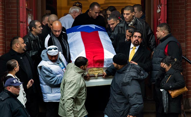 The funeral for murdered boxer Hector 'Macho' Camacho was held in New York City on Dec. 1.