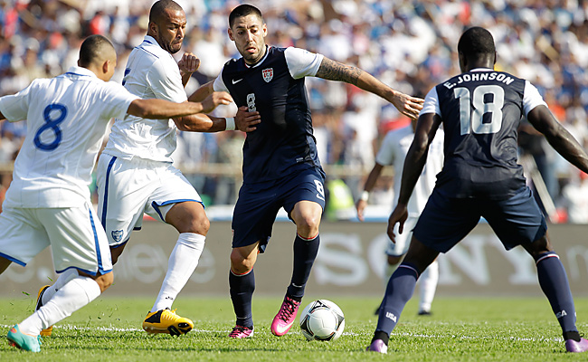 Clint Dempsey gave the U.S. a 1-0 lead in the 36th minute before Honduras stormed back.