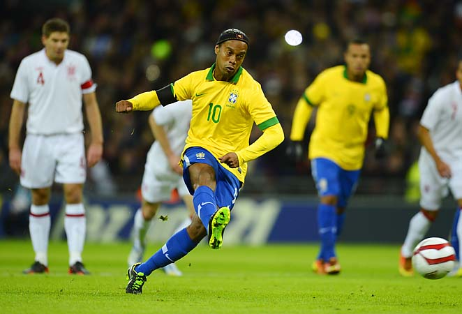 Ronaldinho's chances of making the World Cup team were not aided by his failed penalty kick.