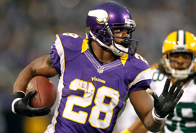 Adrian Peterson was nine yards shy of breaking Eric Dickerson's all-time record.