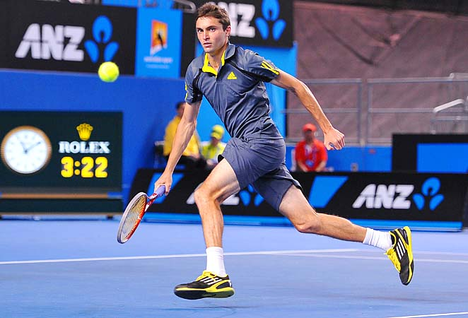 Gilles Simon bowed out at last month's Australian Open to Andy Murray.