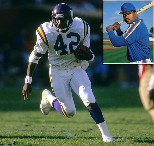 D.J. Dozier spent his first four years after college in the NFL, playing running back for the Minnesota Vikings and the Detroit Lions. Although he never got more than 69 carries in a season, Dozier averaged 4.0 yards per carry and had five rushing touchdowns his rookie year in 1987. Dozier signed a minor-league contract with the New York Mets in 1990 before getting called up to the majors in 1992. Dozier's career in the majors lasted just 25 games, in which he hit .191 with two RBI. <italics>(Send comments to siwriters@simail.com)</italics>