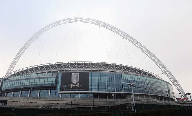 Wembley Stadium hosted an England-Brazil friendly on Wednesday.