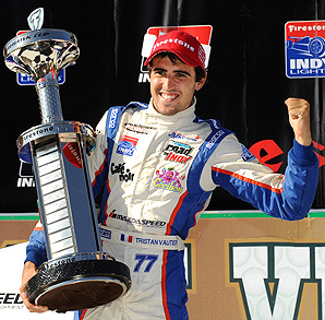 Michael Shank sold his IndyCar to Schmidt Peterson Motorsports, so IndyCar Lights champ Tristan Vautier (pictured) could move to IndyCar.