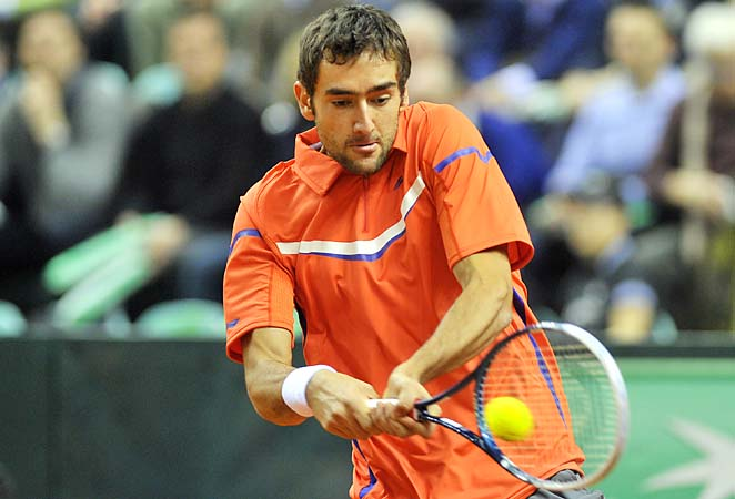 Marin Cilic is coming off a Davis Cup tie loss to Italy last week.
