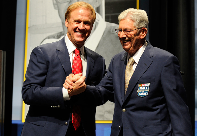 Rusty Wallace and Leonard Wood were among the inductees honored at the NASCAR Hall of Fame.
