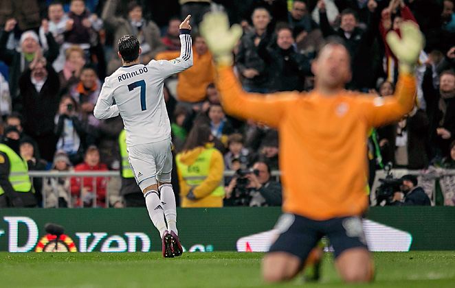 Cristiano Ronaldo recorded his 21st career hat trick as Real Madrid coasted past Sevilla.