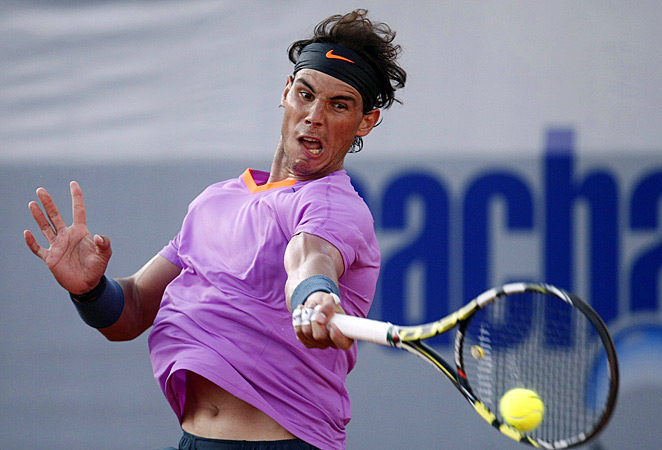 Rafael Nadal beat Jeremy Chardy 6-2, 6-2 on Saturday to reach the singles final.
