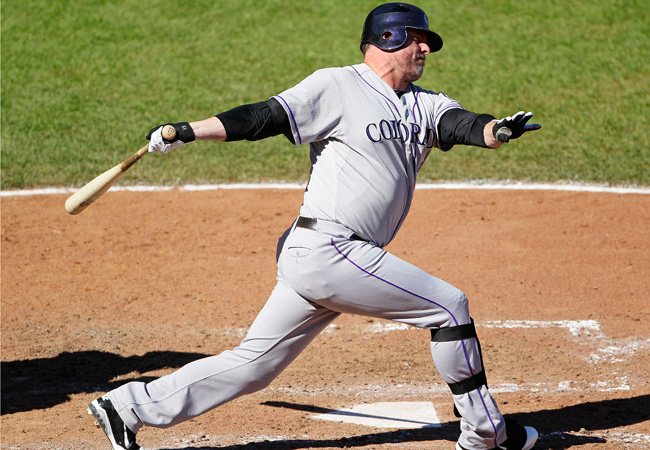 IN 18 seasons, Jason Giambi has played for Oakland, New York and Colorado.
