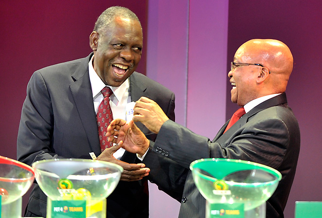 CAF president Issa Hayatou (left), seen here with South African president Jacob Zuma, says he will serve only one more term. Hayatou has been in charge of the CAF over 25 years.