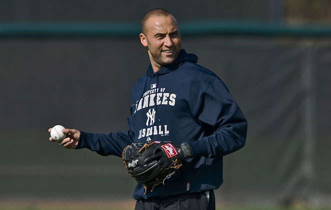 Derek Jeter was back on the field on Monday at the Yankees' spring complex in Tampa.