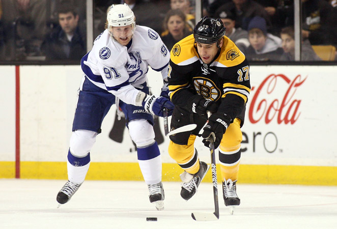 As much as three feet of snow fell in Boston, preventing the Lightning-Bruins game from happening Saturday.