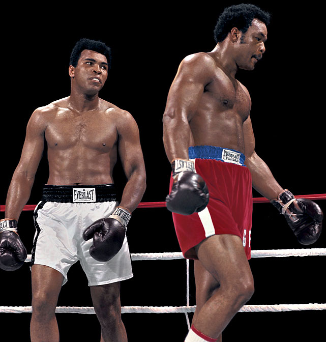 When Ali signed to fight Foreman in Zaire in 1974, many feared that The Greatest was in danger not only of losing but of perhaps being seriously hurt or worse under the heavy fists of the new champion. But as this shot of Leifer's makes clear, Ali brought a fierce focus into the ring in Africa, and he had a clear plan of battle for the bout that would forever be known as the Rumble in the Jungle. Click here for Neil Leifer's fine art photography.