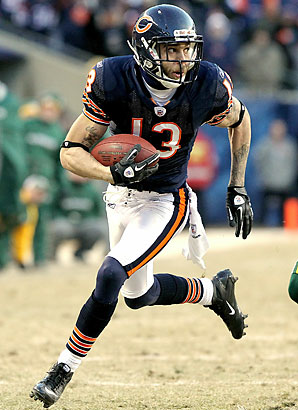 In three seasons with the Bears, Johnny Knox averaged 16.6 yards per catch and scored 12 touchdowns.