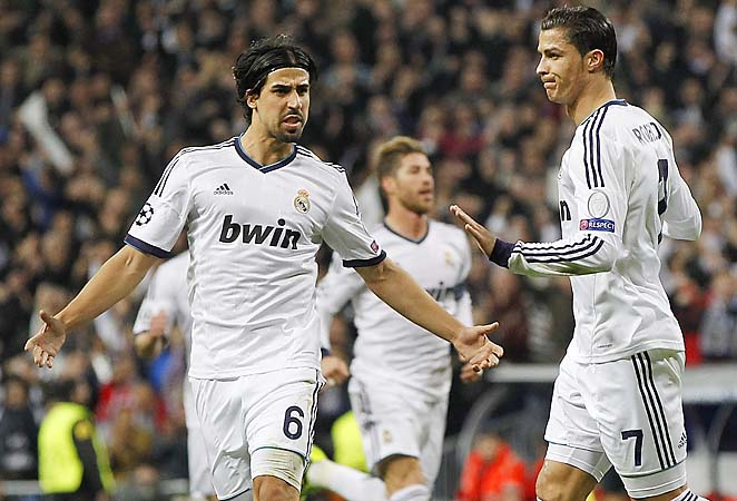 Cristiano Ronaldo (right) scored for Real Madrid, but Manchester United got a crucial away goal.