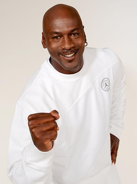 Jordan poses for a portrait in 2008, five years after he retired from his playing career for good.