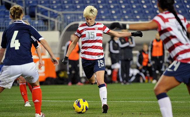 Megan Rapinoe put the U.S. up 1-0 when she scored at the end of the 21st minute from 15 yards.